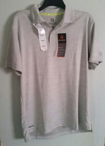 FREE-COUNTRY-MEN-039-S-POLO-SHIRT-SIZE-SMALL-COLOR-SHARK-HEATHER-NWT