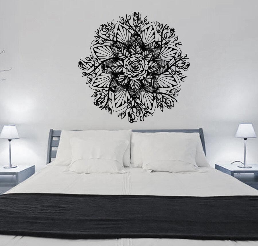 Mandala Wall Decal Ornament Yoga Gift Yoga Studio Decor Bohemian Bedroom S112