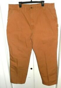 9016f6f5de Carhartt Brown Washed Duck Work Dungaree Fit Utility Pant B11 Men's ...