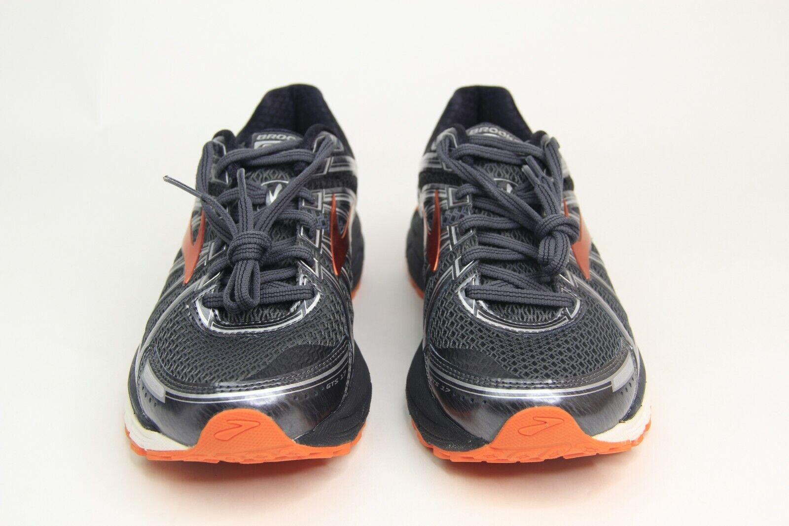 Brooks para Hombre GTS 17 Negro Plata Naranja Running Zapatos 1102411D024 Talla M 8.5 W 10