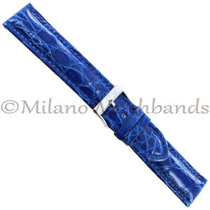 20mm-Milano-Blue-Heavily-Padded-Unstamped-Genuine-Crocodile-Mens-Band-Reg-992