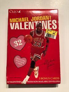 9a1c5bfabe0e41 MICHAEL JORDAN CHICAGO BULLS CLEO VINTAGE 1990 S VALENTINES CARDS ...