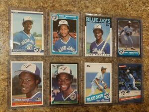 (8) Tony Fernandez 1984 Donruss Fleer Rookie 1985 86 Topps Card Lot RC Blue Jays