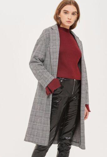 Topshop Grey Slim Smart Duster Longline Mac Summer Jacket Coat 6 to 18 New