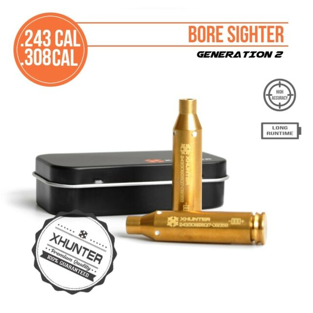 Xhunter Laser Bore Sighter .260 Win Rifle Cartridge Red Dot Boresighter LR