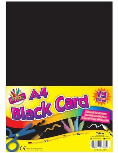 ArtBox A4 Black Card 6873 Pack of 15 Sheets