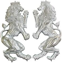 CAST ALUMINUM BRITANNICA LIONS - ONE PAIR - WITH WELD TABS #1000Y