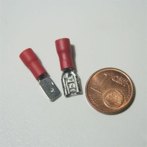 100 paia di scarpe Cavo Spina /& Presa Rosso 2,8 x 0,5mm per 0,5-1,5mm² Cavo Scarpa