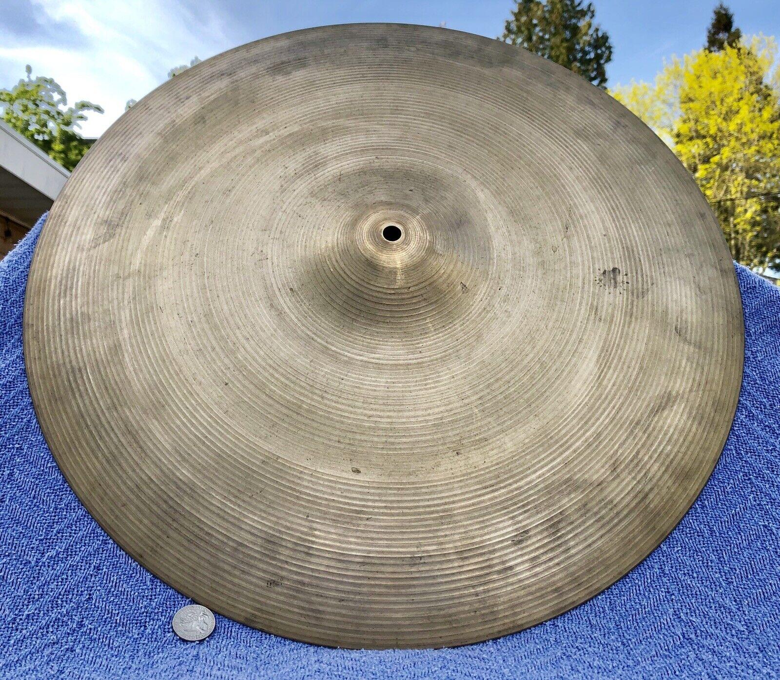 1978-82 Zildjian A 20  Rock Ride Cymbal Natural Finish  0080  A0080 Classic Rock
