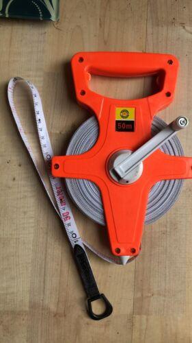 Surveyors 50m Open Reel Measuring Tape 50 Metre Metric Imperial