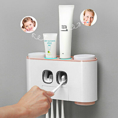 cup Set Wall Mount Stand FZ Auto Automatic Toothpaste Dispenser