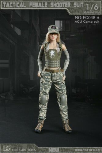 """Fire Girl Toys 1//6 FG048A Tactical Female Fighter Clothes Set Fit 12/"""" Figure"""