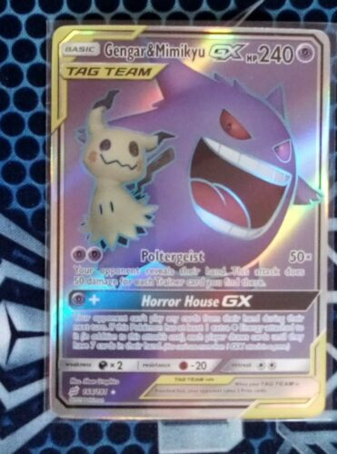 Pokémon TCG TAG TEAM Gengar /& Mimigma GX 164//181 ENG Booster-frisch