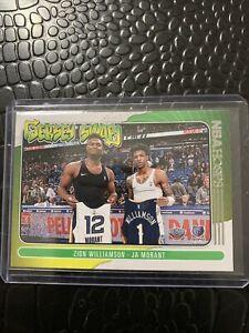 2020-21 NBA Hoops Zion Williamson & Ja Morant Jersey Swap Insert Pelicans