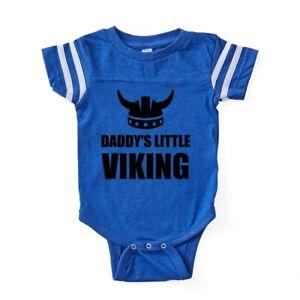 42ab78e0f Image is loading CafePress-Daddy-S-Little-Viking-Baby-Football-Bodysuit-