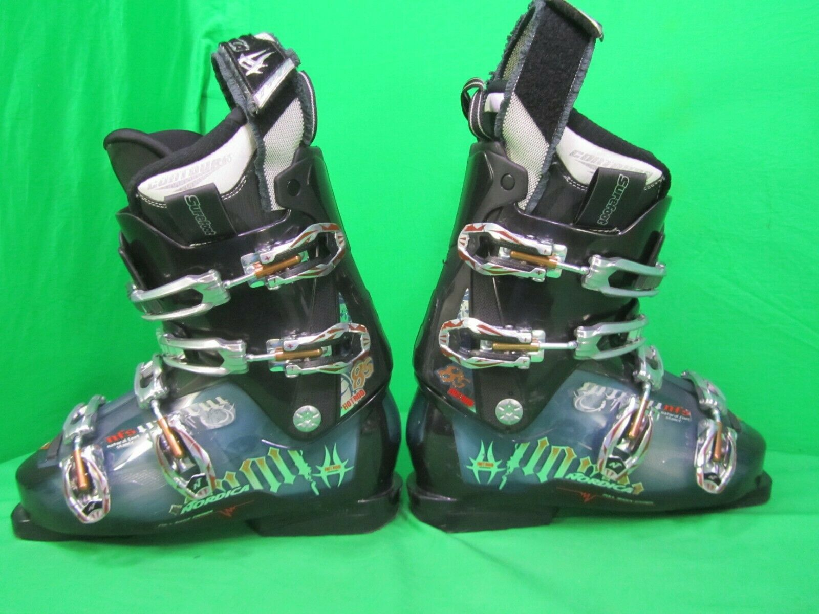 NORDICA HOT ROD 85 SKI BOOTS SIZE US 7.5 Power Of Neutral Inserts