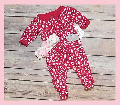 "Reborn Clothes Headband NEW ~ /""Wild Elephant/"" Baby Girl Preemie Outfit"