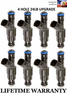 Bosch Fuel Injectors >> Details About 8x 24lb Upgrade 4 Hole Genuine Bosch Fuel Injectors For Dodge Chrysler Jeep 4 7l