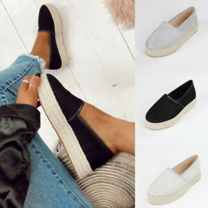 Womens-Platform-Espadrilles-Pumps-Ladies-Summer-Slip-On-Comfy-Loafers-Shoes