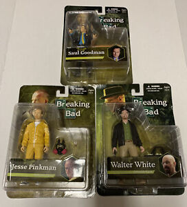 Breaking Bad Mezco Action Figures Mr. White Jesse Saul New Lot 3