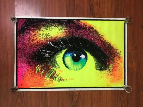 "1970's Original The eye Black Light Poster Early 70's NEW 22x32"""