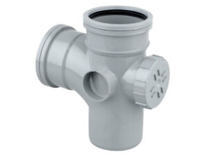 Osma-PVC-U-Access-Branch-90-GREY-BLACK-110-x-110mm-S-S-4S502G-4s502-Soil