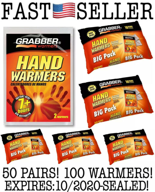 6-pack New Grabber Ultra Warmer Hand Warmers 24 Hrs Of Heat