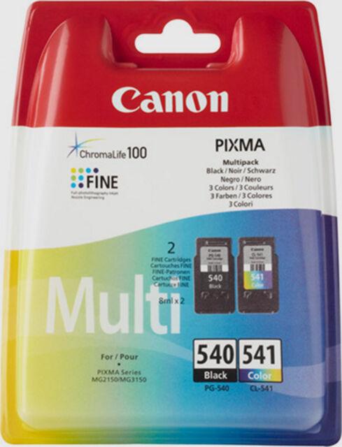 MULTI PACK CANON NOIR COULEUR CL-541 + PG-540 / CL541 pg540 mg2150 mg3150 noire