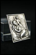 † SAINT CHRISTOPHER & CHILD JESUS STERLING SILVER HOLY PLAQUE TRAVEL PROTECTOR †