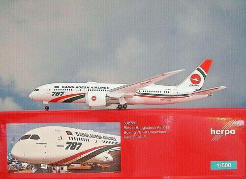 Herpa Wings 1:500 Boeing 787-8 BIMAN BANGLADESH s2-ajs 532730 modellairport 500