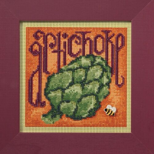 Artichoke Beaded Cross Stitch Kit Mill Hill 2009 Buttons /& Beads Spring MH149104