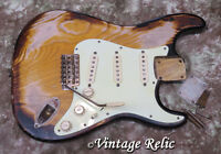 aged RELIC loaded nitro Stratocaster body w/ Fender Custom Shop pups & bridge