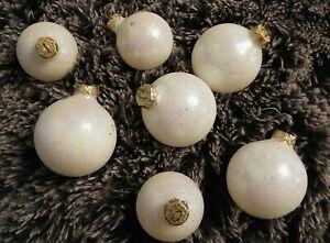 7 glitzernde Weihnachtskugeln in weiß 2 Größen Tannenbaumschmuck - Pulheim, Deutschland - 7 glitzernde Weihnachtskugeln in weiß 2 Größen Tannenbaumschmuck - Pulheim, Deutschland