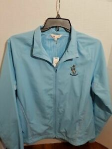 Monterey-Club-Ladies-Light-Weight-Golf-Jacket-XL-Zip-Up-Windbreaker-Long-Sleeve