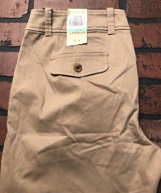 NWT DOCKERS Black Hello Smooth Straight Leg Khaki Pants w// Stretch ~ Women/'s 16