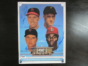 1985-Hall-of-Fame-Yearbook-Autograph-magazine-psa-dna-Lou-Brock-Hoyt-Wilhelm