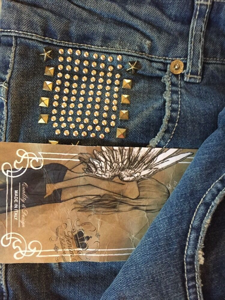 KorKor Jeans W Studs Made In   Size 46 L UNIQUE New W Tag