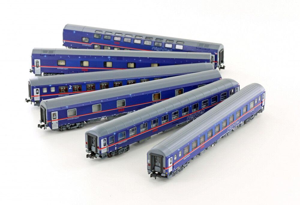 LS Models 97021 N 6tlg. Set nightjet en 470 Zurigo-Amburgo delle ÖBB, disponibilità limitata