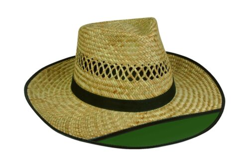 Outdoor Cap LD-902EX Beach Bum 2 Straw Hat with Green Visor Free Shipping
