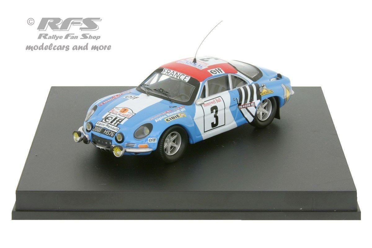 ALPINE renault a110 1800-rallye du Maroc 1974-Nicolas - 1 43 trofeu 0821
