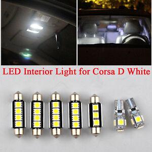 7-un-LED-Interior-Bombillas-de-coche-Kit-Blanco-Canbus-Para-Vauxhall-Corsa-D-2006