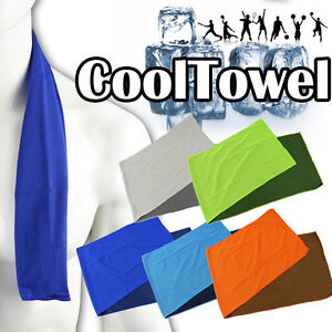 Ice-Cooling-Cool-Towel-Cycling-Running-Gym-Golf-Sport-Cold-SOAK-IN-WATER