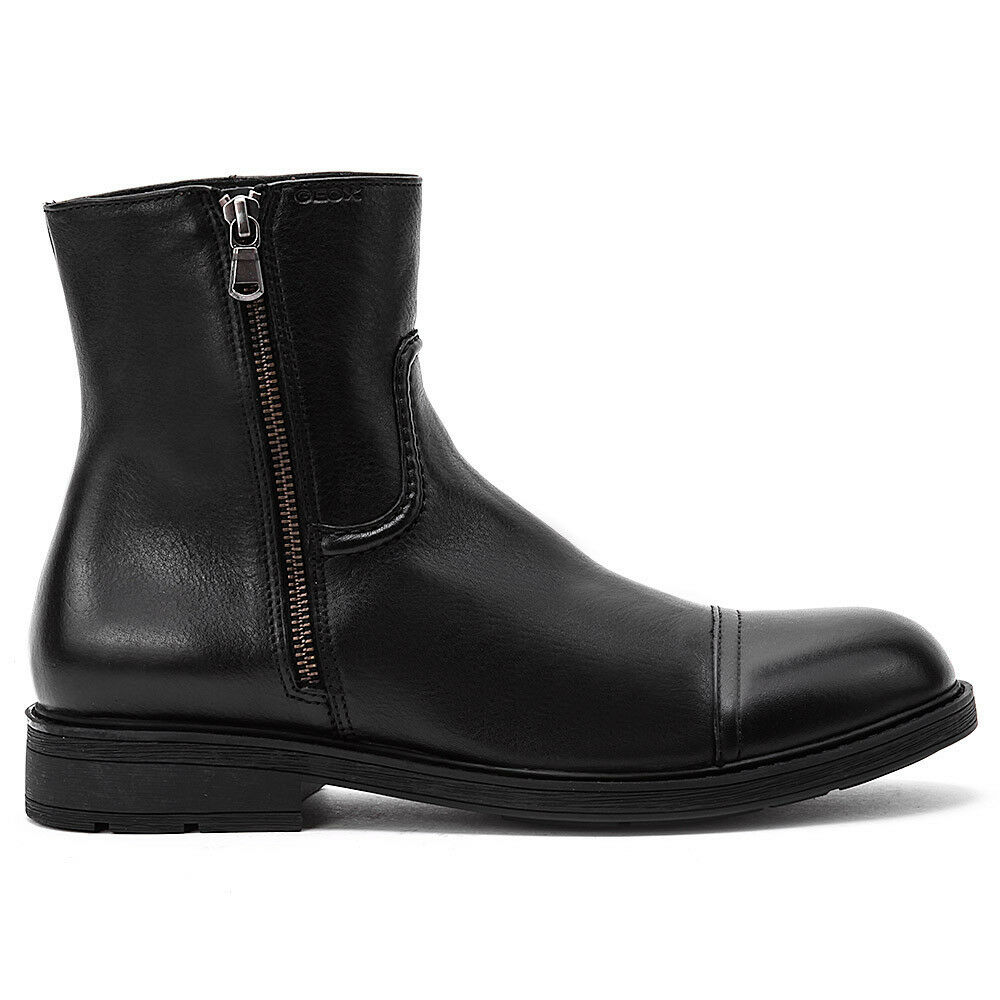 GEOX MEN'S SHOE FORMAL CLASSICAL ANKLE BOOT RANDY U34Q8A 00043 41,5 LEATHER