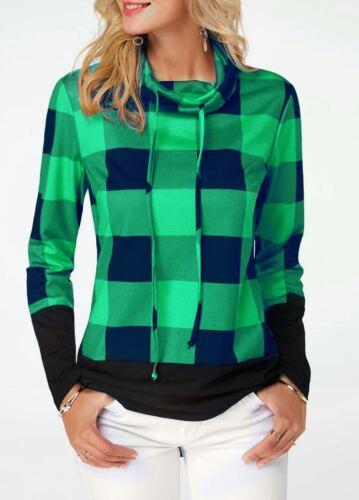 NEW Womens Long Sleeve Hoodies Ladies Sweatshirts Pullover Tops Blouse Plus Size