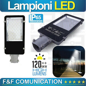 Lampione led lampione stradale led esterno ip65 50w 30w for Led esterno 50w