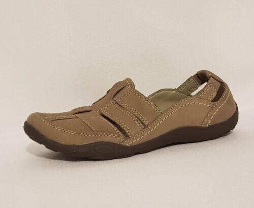 Clarks Zapatos 5 Cuero Haley D Sandalias 3 Pisos Marrón Seta Nubuck Stork Uk wBwSqA