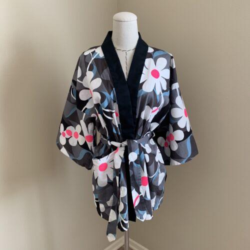 Vintage 60s Lehua Hawaiian Daisy Flower Kimono Rob