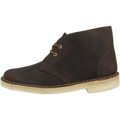 Women's Shoes Clarks Desert Boot Scarpe Donna Stivaletti Lacci Da Cera D'api Pelle 26138218 Keep You Fit All The Time