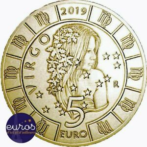 Piece-de-5-euros-commemorative-SAINT-MARIN-2019-Horoscope-Vierge-6-12