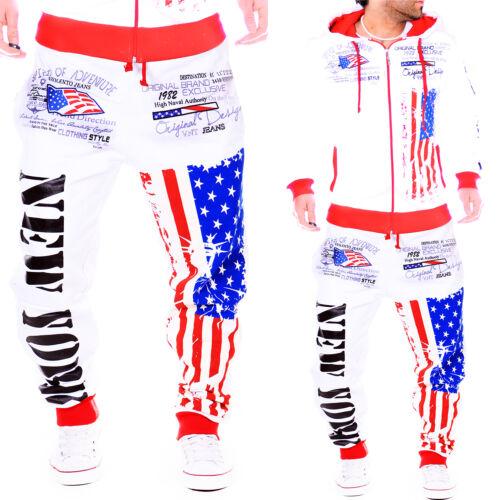 Herren Jogginganzug Jogginghose Jogging Jacke USA Fitness Sport Damen S-XXXL NEU